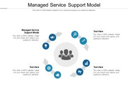 Managed Service Support Model Ppt Powerpoint Presentation Portfolio Templates Cpb