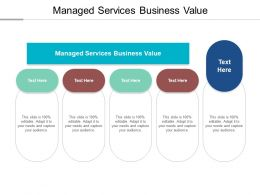 Managed Services Business Value Ppt Powerpoint Presentation Professional Objects Cpb