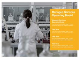Managed Services Operating Model Ppt Powerpoint Presentation Visual Aids Example 2015 Cpb