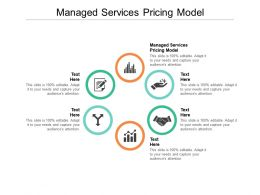 Managed Services Pricing Model Ppt Powerpoint Presentation Infographic Template Structure Cpb