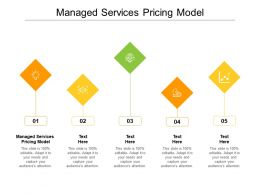 Managed Services Pricing Model Ppt Powerpoint Presentation Layouts Visuals Cpb