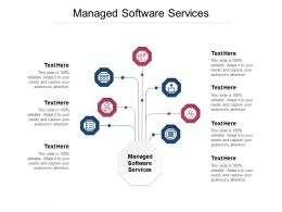 Managed Software Services Ppt Powerpoint Presentation Icon Show Cpb