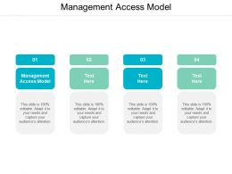 Management Access Model Ppt Powerpoint Presentation Inspiration Cpb