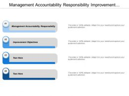 Management Accountability Responsibility Improvement Objectives Legal Customer Requirements