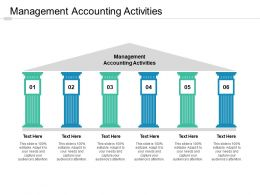 Management Accounting Activities Ppt Powerpoint Presentation Infographics Elements Cpb