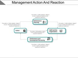 Management Action And Reaction Powerpoint Layout