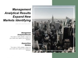 Management Analytical Results Expand New Markets Identifying Stakeholders Cpb