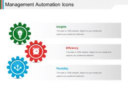 Management Automation Icons Powerpoint Slide Show