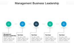 Management Business Leadership Ppt Powerpoint Presentation Styles Outfit Cpb