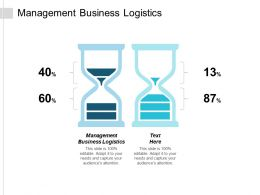 Management Business Logistics Ppt Powerpoint Presentation Infographic Template Model Cpb