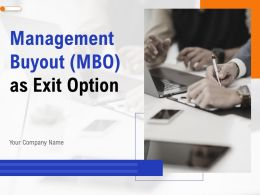 Management Buyout MBO As Exit Option Powerpoint Presentation Slides