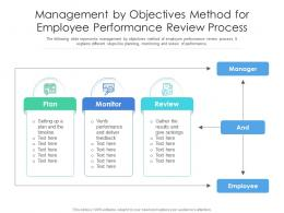 Management By Objectives Method For Employee Performance Review Process