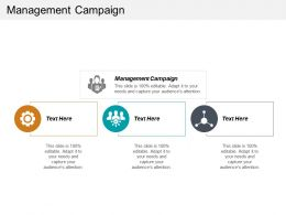 Management Campaign Ppt Powerpoint Presentation Gallery Deck Cpb
