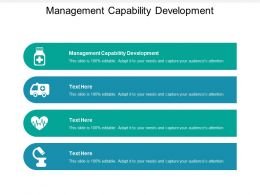 Management Capability Development Ppt Powerpoint Presentation Slides Maker Cpb