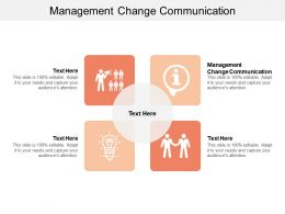 Management Change Communication Ppt Powerpoint Presentation Gallery Format Ideas Cpb