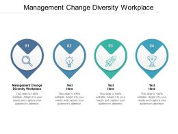 Management Change Diversity Workplace Ppt Powerpoint Presentation Infographics Aids Cpb