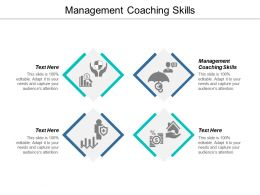 Management Coaching Skills Ppt Powerpoint Presentation Layouts Introduction Cpb