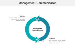 Management Communication Ppt Powerpoint Presentation Portfolio Icon Cpb
