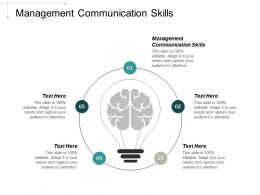 Management Communication Skills Ppt Powerpoint Presentation Professional Background Images Cpb