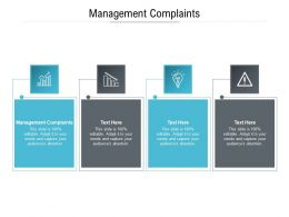 Management Complaints Ppt Powerpoint Presentation Infographic Template Background Images Cpb