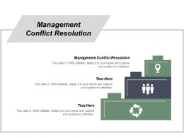 Management Conflict Resolution Ppt Powerpoint Presentation Diagram Images Cpb