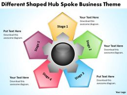 Management Consultant Business Different Shaped Hub Spoke Theme Powerpoint Slides 0523