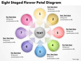 Management Consultant Business Eight Staged Flower Petal Diagram Powerpoint Slides 0523