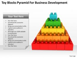 Management Consultant Business Toy Blocks Pyramid For Development Powerpoint Templates 0527