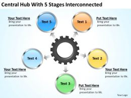 Management Consultant Central Hub With 5 Stages Iterconnected Powerpoint Slides 0523