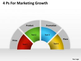 Management Consultants 4 Ps For Marketing Growth Powerpoint Templates PPT Backgrounds Slides 0617