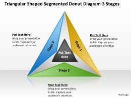 Management Consultants Donut Diagram 3 Stages Powerpoint Templates PPT Backgrounds For Slides 3 Stages 0530