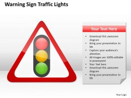 Management Consultants Warning Sign Traffic Lights Powerpoint Slides 0527