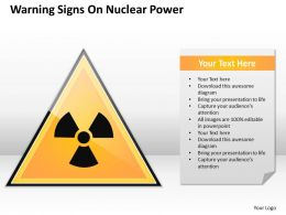 Management Consultants Warning Signs Nuclear Power Powerpoint Slides 0527
