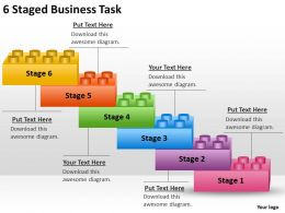 Management Consulting 6 Staged Business Task Powerpoint Templates PPT Backgrounds For Slides