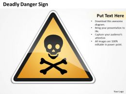Management Consulting Business Deadly Danger Sign Powerpoint Templates PPT Backgrounds For Slides 0527