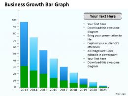 Management Consulting Business Growth Bar Graph Powerpoint Templates PPT Backgrounds For Slides 0618