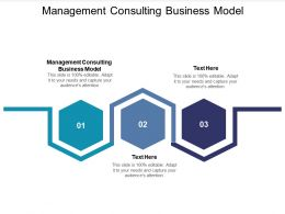 Management Consulting Business Model Ppt Powerpoint Presentation Slides Grid Cpb