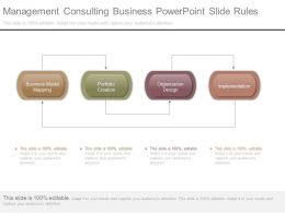 Management Consulting Business Powerpoint Slide Rules