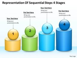 Management Consulting Business Steps 4 Stages Powerpoint Templates PPT Backgrounds For Slides 0530