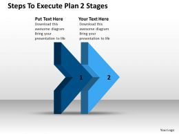 Management Consulting Business Steps To Execute Plan 2 Stages Powerpoint Templates 0522