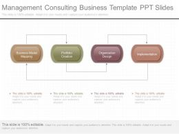 Management Consulting Business Template Ppt Slides