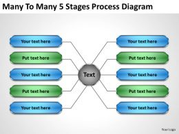 Management Consulting Companies Many To 5 Stages Process Diagram Powerpoint Templates 0523
