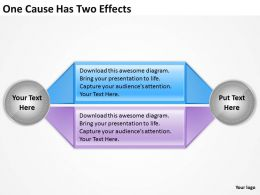 Management Consulting Companies One Cause Has Two Effects Powerpoint Templates