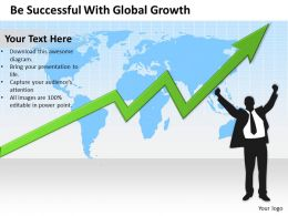 Management Consulting Companies With Global Growth Powerpoint Templates PPT Backgrounds For Slides 0617