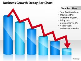 Management Consulting Growth Decay Bar Chart Powerpoint Templates PPT Backgrounds For Slides 0618