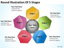Management Consulting Illustration Of 5 Stages Powerpoint Templates Ppt Backgrounds For Slides 0523