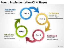 Management Consulting Implementation Of 4 Stages Powerpoint Templates Ppt Backgrounds For Slides 0523