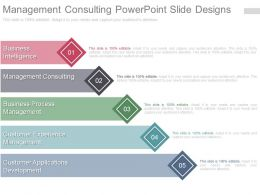 Management Consulting Powerpoint Slide Designs