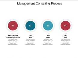 Management Consulting Process Ppt Powerpoint Presentation Show Graphic Tips Cpb