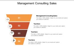 Management Consulting Sales Ppt Powerpoint Presentation Slides Gridlines Cpb